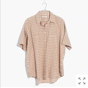 Madewell courier side-button shirt in gingham
